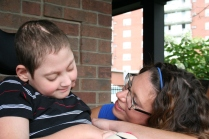 Photos of Shannon and Jacob McMullen from Ronald McDonald House.