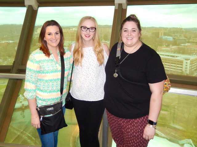Jen, Me, and Melanie at the top of the Sunsphere.